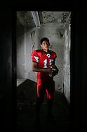 Photo by Alex Jones..J.D. Cisneros, quarterback, La Villa Cardinals