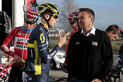 December 15, 2017 - Manacor, Espagne - MANACOR, SPAIN - DECEMBER 15 : KEUKELEIRE Jens (BEL) Rider of Team Lotto - Soudal and AERTS Mario (BEL) Sports Director of Team Lotto - Soudal pictured during the training camp of the Lotto Soudal cycling team on December 15, 2017 in Manacor, Spain, 15/12/17 (Credit Image: © Panoramic via ZUMA Press)