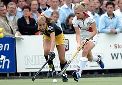 20-05-2007 HOCKEY: FINALE PLAY OFF: DEN BOSCH - AMSTERDAM: DEN BOSCH <br /> Den Bosch voor de tiende keer op rij kampioen van de Rabo Hoofdklasse Dames. In de beslissende finale versloegen zij Amsterdam met 2-0 / Melanie Petit dit de la Roche en Kitty van Male<br /> ©2007-WWW.FOTOHOOGENDOORN.NL