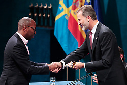 King Felipe VI of Spain, Amref Health Africa Princess of Asturias Award for International Cooperation 2018 Amref Health Africa is a non-profit organization founded in Kenya in 1957 by doctors Michael Wood (United Kingdom), Tom Rees (USA) and Archibald McIndoe (New Zealand) attending the Princess Of Asturias Awards ceremony on October 19, 2018 in Oviedo, Spain. Photo by Archie Andrews/ABACAPRESS.COM