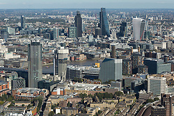 © Licensed to London News Pictures. 26/04/2016. London, UK. The city of London bathes in the Autumn sunshine. Moorgate area. Photo credit: Martin Apps/LNP