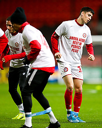 Callum O'Dowda as Bristol City wear special warm up shirts in tribute to the Afobe family following the passing of Benik Afobe's baby daughter Amora, aged 2 - Rogan/JMP - 10/12/2019 - Ashton Gate Stadium - Bristol, England - Bristol City v Milwall FC - Sky Bet Championship.
