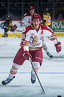 REGINA, SK - MAY 22: Antoine Morand #88 of Acadie-Bathurst Titan warms up against the Hamilton Bulldogs at the Brandt Centre on May 22, 2018 in Regina, Canada. (Photo by Marissa Baecker/CHL Images)