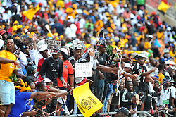 Hundreds of Orlando pirates supporters came in large numbers to support their team during the Soweto derby Kaizer Chiefs and Orlando pirates for the PLS match at the FNB Stadium. Johannesburg.<br />Picture: Itumeleng English/ African News Agency /ANA