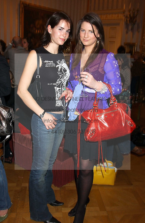 Left to right, OCTAVIA KHASHOGGI and DAVINA CATT at a fashion show featuring the Miss Selfridge Autumn/Winter '05 collections held at The Wallace Collection, Manchester Square, London W1 on 6th April 2005.<br /><br />NON EXCLUSIVE - WORLD RIGHTS