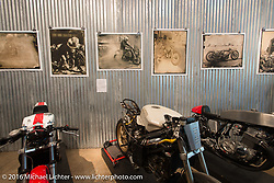 Handprinted Tintypes by Paul D'Orleans and Susan McLaughlin on Saturday in the Handbuilt Motorcycle Show. Austin, TX, USA. April 9, 2016.  Photography ©2016 Michael Lichter.