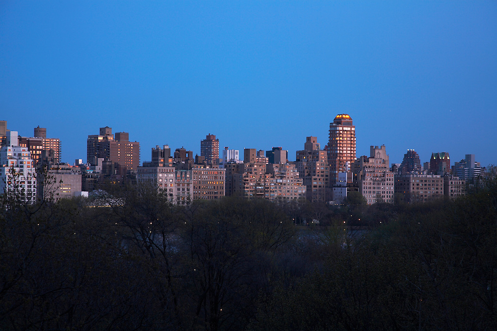 Night view from 353 Central Park West, 9th Floor
