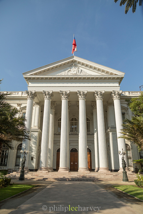 Former National Congress Building in Santiago, Chile