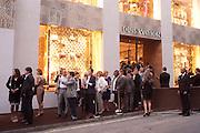 Louis Vuitton openingof New Bond Street Maison. London. 25 May 2010. -DO NOT ARCHIVE-© Copyright Photograph by Dafydd Jones. 248 Clapham Rd. London SW9 0PZ. Tel 0207 820 0771. www.dafjones.com.