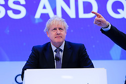 © Licensed to London News Pictures. 18/11/2019. London, UK. Prime Minister, BORIS JOHNSON makes a keynote speech at the annual CBI (Confederation of British Industry) conference at Intercontinental Hotel, Greenwich. Photo credit: Dinendra Haria/LNP