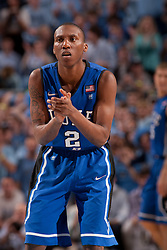 CHAPEL HILL, NC - MARCH 05: Nolan Smith #2 of the Duke Blue Devils claps while playing the North Carolina Tar Heels on March 05, 2011 at the Dean E. Smith Center in Chapel Hill, North Carolina. North Carolina won 67-81. (Photo by Peyton Williams/UNC/Getty Images) *** Local Caption *** Nolan Smith