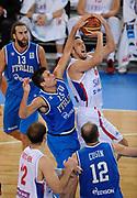 DESCRIZIONE : Lubiana Ljubliana Slovenia Eurobasket Men 2013 Finale Settimo Ottavo Posto Serbia Italia Final for 7th to 8th place Serbia Italy<br /> GIOCATORE : Vasilje Micic <br /> CATEGORIA : tiro shot<br /> SQUADRA : Serbia Serbia<br /> EVENTO : Eurobasket Men 2013<br /> GARA : Serbia Italia Serbia Italy<br /> DATA : 21/09/2013 <br /> SPORT : Pallacanestro <br /> AUTORE : Agenzia Ciamillo-Castoria/N.Parausic<br /> Galleria : Eurobasket Men 2013<br /> Fotonotizia : Lubiana Ljubliana Slovenia Eurobasket Men 2013 Finale Settimo Ottavo Posto Serbia Italia Final for 7th to 8th place Serbia Italy<br /> Predefinita :
