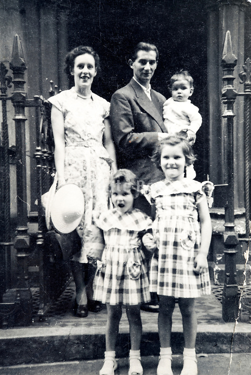 young couple with three chldren France ca 1960s