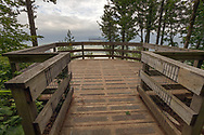 The Hillkeep Regional Park cantilevered viewing platform in Chilliwack, British Columbia, Canada.