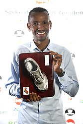 October 20, 2018 - Saint Trond, France - Bashir Abdi Spike Silver Argent Zilver pictured during the ceremony of the Golden Spike Athletics Awards 2018 on October 20, 2018 in Sint-Truiden, Belgium, 20/10/2018 (Credit Image: © Panoramic via ZUMA Press)