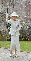 Princess Alexandra at the wedding of the Hon.Alexandra Knatchbull to Thomas Hooper held at Romsey Abbey, Romsey, Hampshire on 25th June 2016