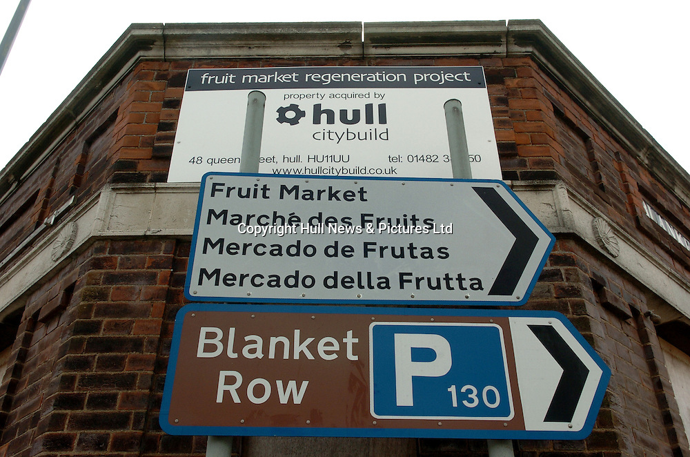 23 August 2007: The Fruit Market, Hull, which is to be re-developed.<br />Picture:Sean Spencer/Hull News & Pictures 01482 210267/07976 433960<br />High resolution picture library at http://www.hullnews.co.uk<br />©Sean Spencer/Hull News & Pictures Ltd