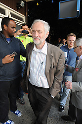 © Licensed to London News Pictures. 04/08/2015 <br /> JEREMY CORBYN arriving.<br /> Jeremy Corbyn Labour Leader candidate at Ruskin House,South Croydon,Surrey. At a meet Jeremy Corbyn  Q AND A Event TONIGHT (04.08.2015)<br /> (Byline:Grant Falvey/LNP)