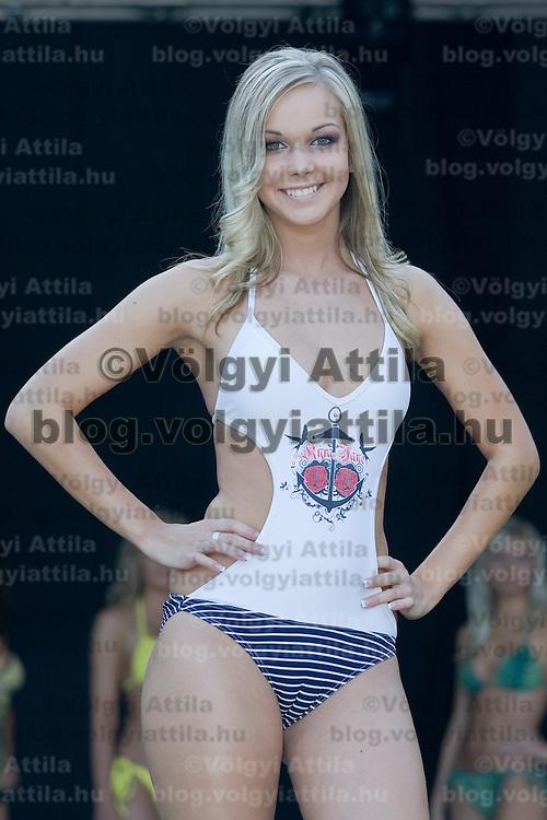 Miss Balaton Capital City beauty contest held in Keszthely, Hungary. Saturday, 15. August 2009. ATTILA VOLGYI