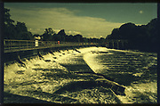 Maidenhead. Berkshire UK. General Views, Boulters Lock, Raymead Island. Boulters Weir and the River Thames. [Mandatory Credit; Peter Spurrier intersport Images/       Film Stock: Rollei Chrome  [RC200] ISO200, Camera Contax G2, Lens Zeiss 28mm and 45mm