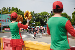 Danique Braam (NED) leads the race at Tour of Chongming Island 2019 - Stage 1, a 102.7 km road race on Chongming Island, China on May 9, 2019. Photo by Sean Robinson/velofocus.com