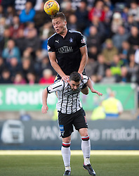 Falkirk's Peter Grant and Dunfermline's Nicky Clark. Falkirk 2 v 0 Dunfermline, Scottish Challenge Cup played 7/9/2017 at The Falkirk Stadium.