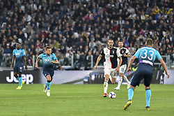 May 19, 2019 - Turin, Turin, Italy - Leonardo Bonucci of Juventus FC and Papu G—mez,  of Atalanta BC during the Serie A match at Allianz Stadium, Turin (Credit Image: © Antonio Polia/Pacific Press via ZUMA Wire)