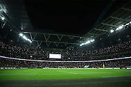 a general view as England fans use their Mobile phone lights to light up Wembley Stadium. England v Spain, Football international friendly at Wembley Stadium in London on Tuesday 15th November 2016.<br /> pic by John Patrick Fletcher, Andrew Orchard sports photography.