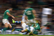 general action from the game. Rugby World Cup 2015 quarter-final match, Ireland v Argentina at the Millennium Stadium in Cardiff, South Wales  on Sunday 18th October 2015.<br /> pic by  Andrew Orchard, Andrew Orchard sports photography.