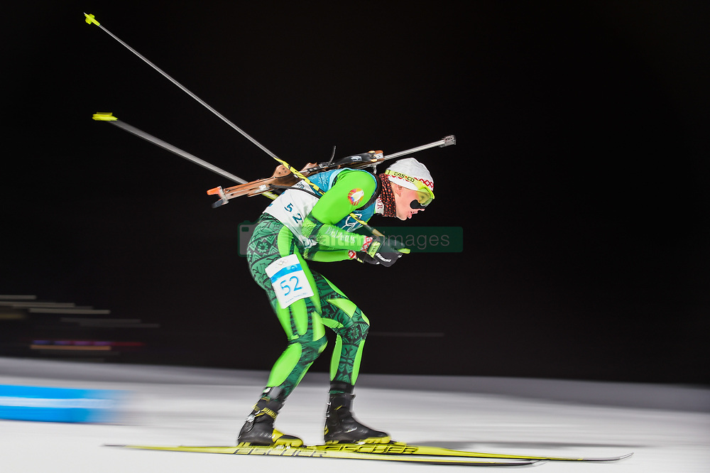 February 11, 2018 - Pyeongchang, Gangwon, South Korea - Raman Yaliotnau of Belarus at Mens 10 kilometre sprint Biathlon at olympics at Alpensia biathlon stadium, Pyeongchang, South Korea on February 11, 2018. (Credit Image: © Ulrik Pedersen/NurPhoto via ZUMA Press)