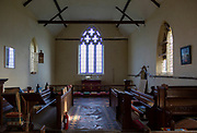 Historic interior of Redlingfield church, Suffolk, England, UK
