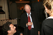 Lord Jacob Rothschild, A A Gill party to celebrate the  publication of Table Talk, a collection of his reviews. Hosted by Marco Pierre White at <br />