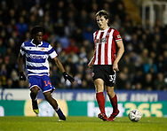 Sander Berge of Sheffield Utd and Ovie Ejaria of Reading  of Reading during the FA Cup match at the Madejski Stadium, Reading. Picture date: 3rd March 2020. Picture credit should read: Simon Bellis/Sportimage