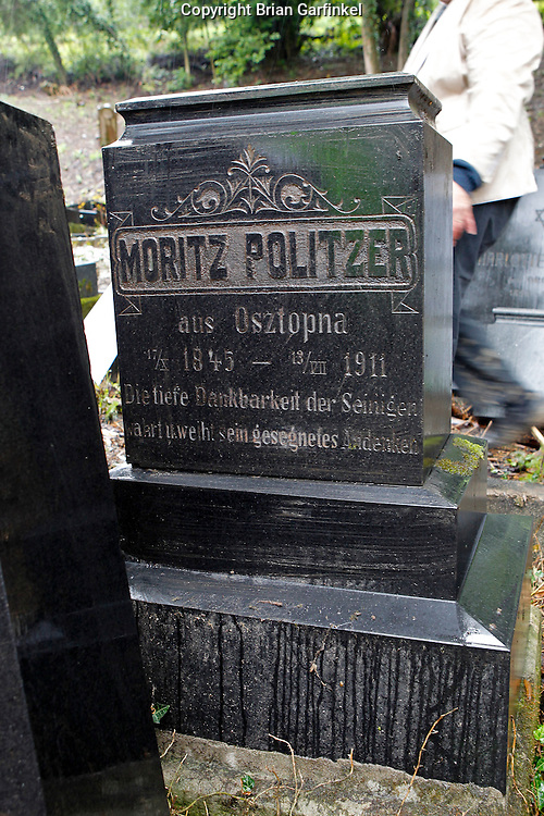 The grave stone of my Great-Great Grand father in Povazka Bystrica, Slovakia on Sunday July 3rd 2011. (My Mom's (Judy), Father's (Otto), Dad's Parents) (Photo by Brian Garfinkel)