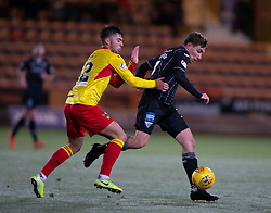 Partick Thistle's Reece Cole and Dunfermline's Lewis Martin. Dunfermline 5 v 1 Partick Thistle, Scottish Championship game played 30/11/2019 at Dunfermline's home ground, East End Park.