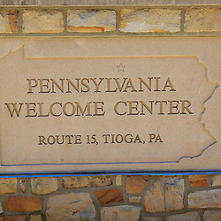 Tioga, PA - July 26, 2016: The Pennsylvania Welcome Center on Route 15, about seven miles from the NY-PA Border.