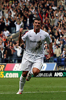 Photo: Paul Thomas.<br /> Bolton Wanderers v Liverpool. The Barclays Premiership. 30/09/2006.<br /> <br /> Gary Speed of Bolton celebrates his goal.