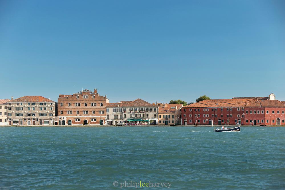 Looking across the Canale della Giudecca at Giudecca island.