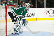 DALLAS, TX - SEPTEMBER 26:  Kari Lehtonen #32 of the Dallas Stars looks on against the Colorado Avalanche in an NHL preseason game on September 26, 2013 at the American Airlines Center in Dallas, Texas.  (Photo by Cooper Neill/Getty Images) *** Local Caption *** Kari Lehtonen