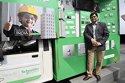 July 3, 2017 - Kolkata, India - Mr. Ramesh Jha,Regional Sales Head-East,Schneider Electric India meet the press and lunches Switch on India campaingn in West Bengal and odisha expand its retail presence in East India on July 03,2017 in Kolkata,India. Retal Market for low-voltage eletrical products in East India  pegged Rs 500 crore. (Credit Image: © Debajyoti Chakraborty/NurPhoto via ZUMA Press)