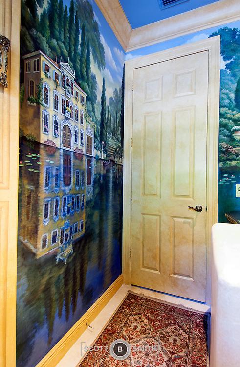Custom designed interior of luxury residence in Palm Beach Gardens, Florida.
