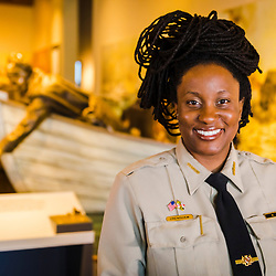 Assistant Park Manager Angela Crenshaw, at the visitor center at the Harriet Tubman Underground Railroad State Park in Church Creek, Maryland.