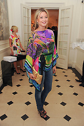 HOLLY VALANCE at a party to celebrate the launch of Page One an online guide to London's 100 most rewarding restaurants held at the Halcyon Gallery, Bruton Street, London on 7th July 2010.