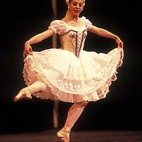 USA, Washington, Seattle, Lisa Tobiason dances the lead role of Swanilda in Pacific Northwest Ballet performance of Coppélia