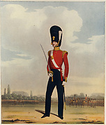 'Officer of the 87th, Royal Irish, Fusiliers.  Illustration by L. Mansion and L. Eschauzier for ''Military and Naval Costumes'', London, 1830-1840.'