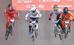 11-08-2018 BMX: EUROPEAN CHAMPIONSHIPS BMX CYCLING: GLASGOW<br /> Laura Smulders wint het goud tijdens de finale BMX vrouwen<br /> <br /> Foto: Margarita Bouma