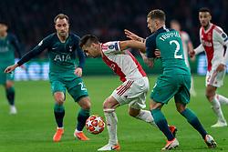 08-05-2019 NED: Semi Final Champions League AFC Ajax - Tottenham Hotspur, Amsterdam<br /> After a dramatic ending, Ajax has not been able to reach the final of the Champions League. In the final second Tottenham Hotspur scored 3-2 / Dusan Tadic #10 of Ajax, Kieran Trippier #2 of Tottenham Hotspur