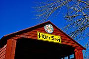 Hex sign, PA Dutch Folk Art, Greisemer Covered Bridge, Berks Co., PA USA
