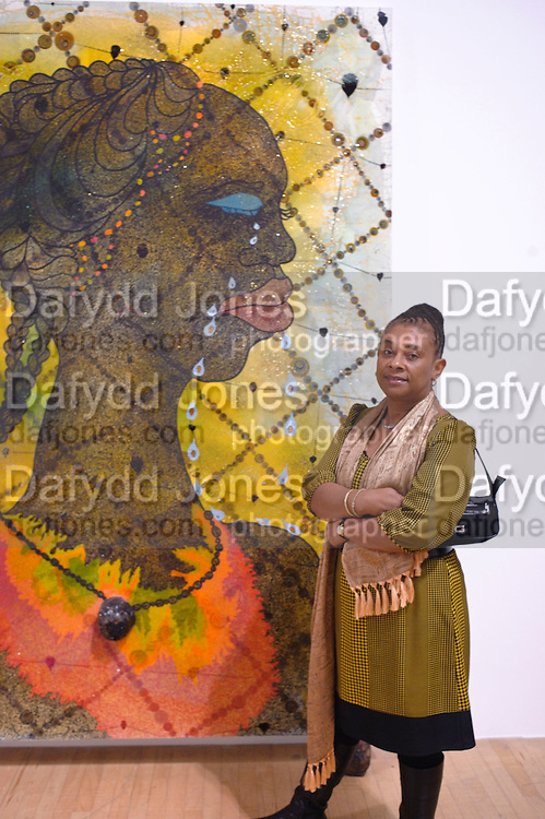 PAINTING: No Woman, No Cry BY CHRIS OFILI; DOREEN LAWRENCE,  Chris Ofili dinner to celebrate the opening of his exhibition. Tate. London. 25 January 2010