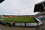 A general view inside Grimsby Town Blundell Park stadium during the EFL Sky Bet League 2 match between Grimsby Town FC and Milton Keynes Dons at Blundell Park, Grimsby, United Kingdom on 26 January 2019.